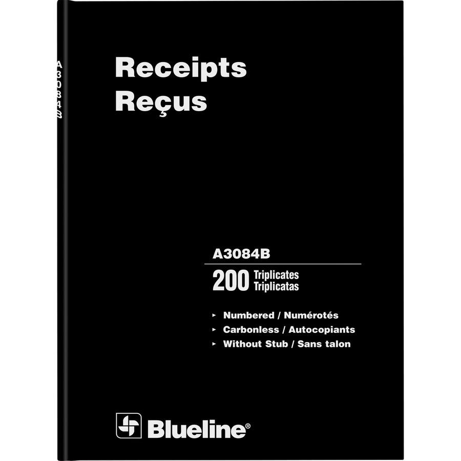blueline perfect binding bilingual receipt book blia3084b