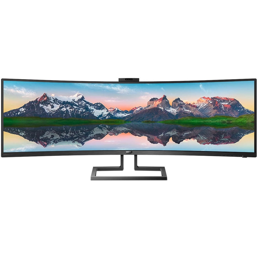 """Philips Brilliance 499P9H 48.8"""" Dual Quad HD (DQHD) Curved Screen WLED LCD Monitor - 32:9 - Textured Black_subImage_3"""