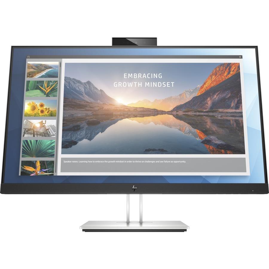 "HP E24d G4 23.8"" Full HD LED LCD Monitor - 16:9 - Black, Silver_subImage_2"