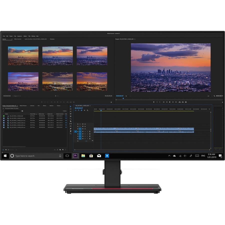 "Lenovo ThinkVision P27h-20 27"" WQHD WLED LCD Monitor - 16:9 - Raven Black_subImage_2"