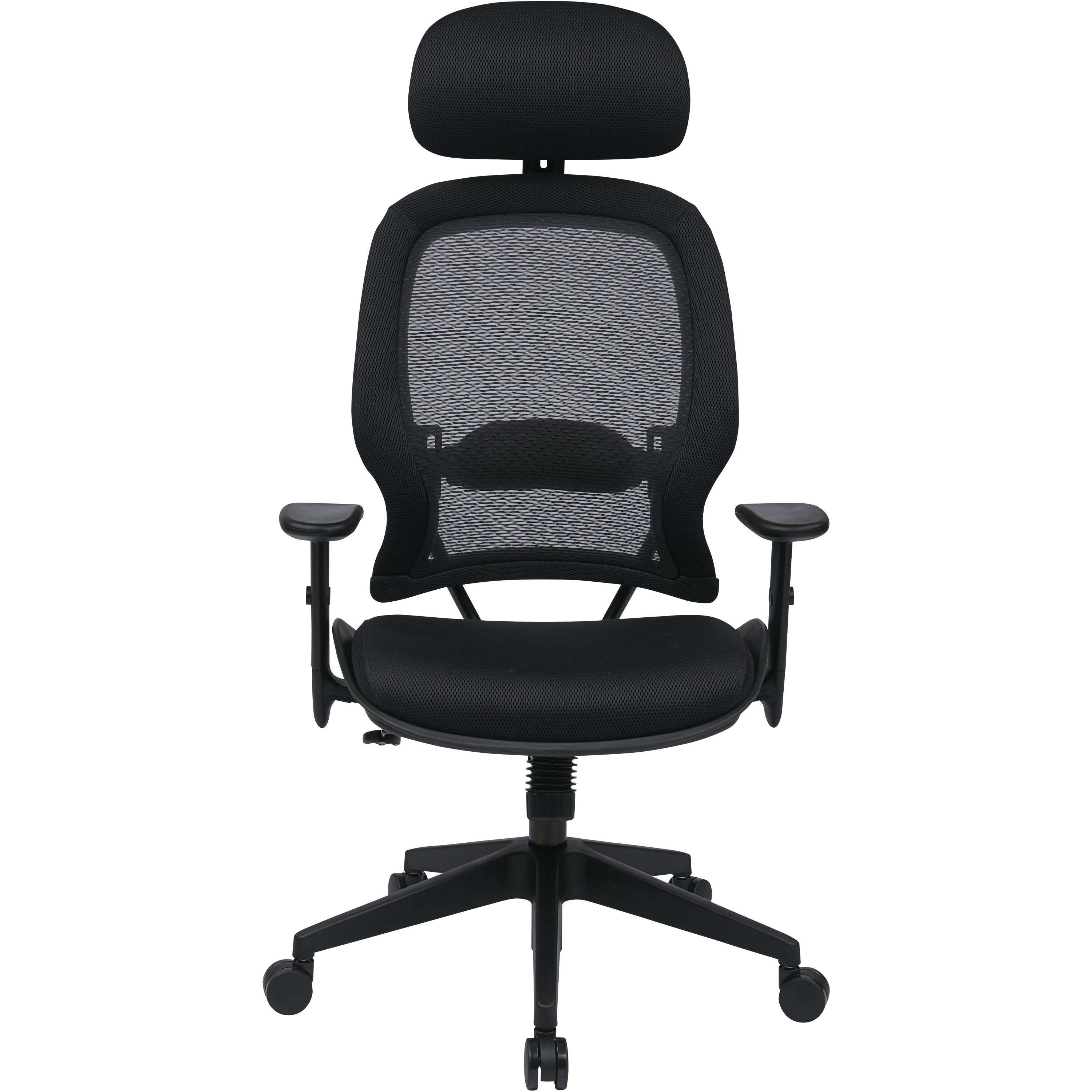 office star professional air grid chair with adjustable headrest
