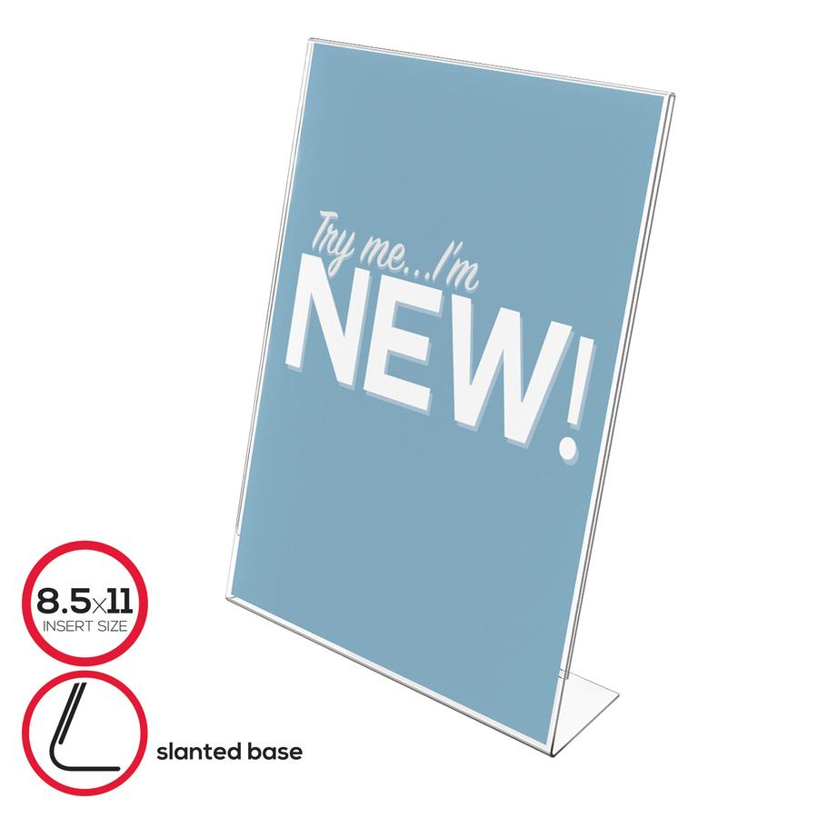 deflecto Side Load Stand-Up Sign Holder - Servmart