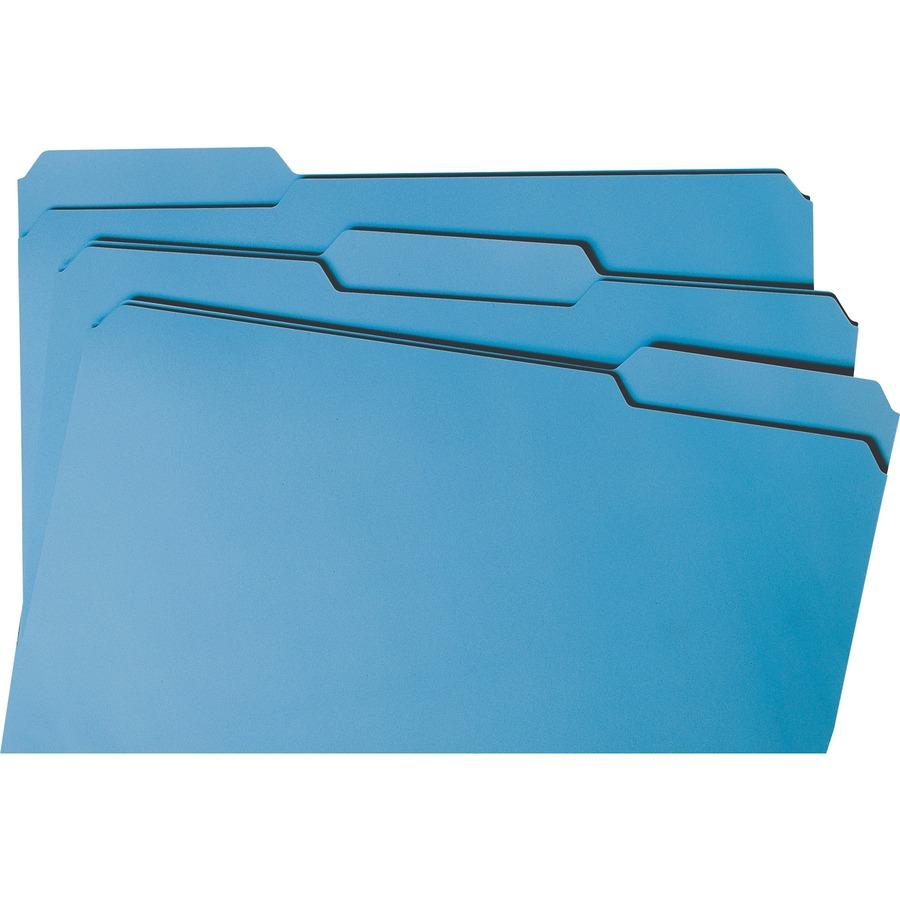 Smead File Folder, 1/3-Cut Tab, Legal Size, Blue, 100 per Box (17043)