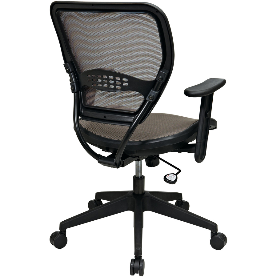 office star space latte air grid seat back deluxe task chair