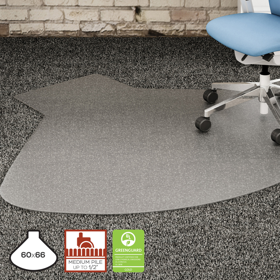lorell l workstation medium pile chairmat servmart