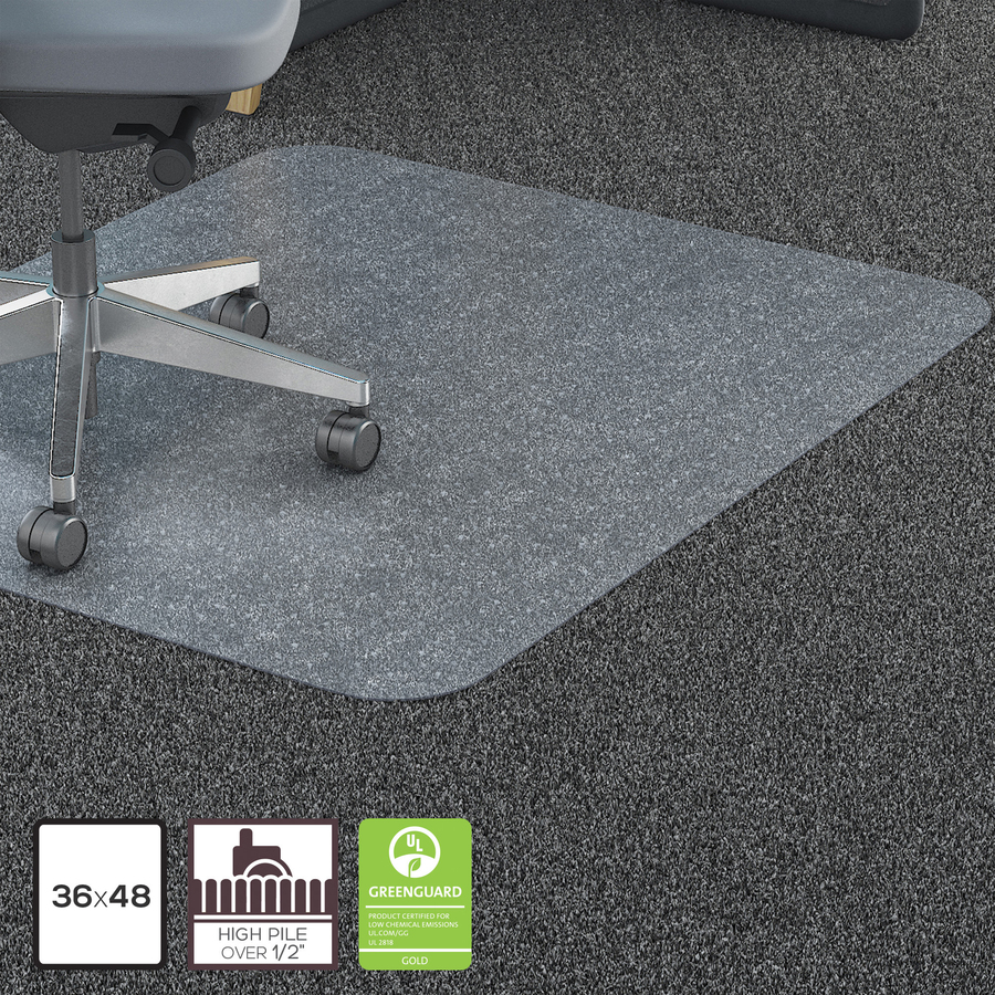 Lorell Polycarbonate Rectangular Studded Chairmats Mac Papers Inc
