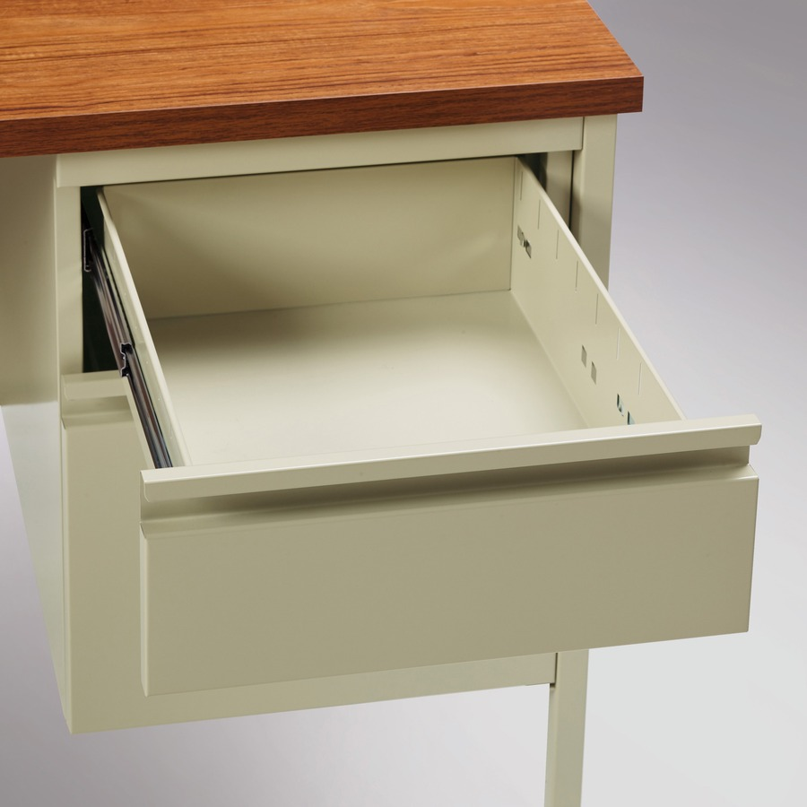 dsk lw single desk solid oak product home computer office warwick msl pedestal