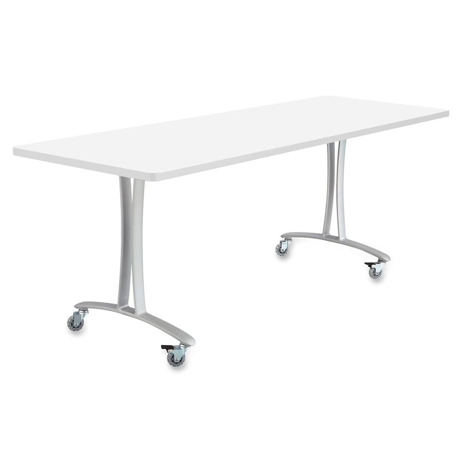 Safco rumba training table t leg base w glides saf2083sl - Table glides for legs ...