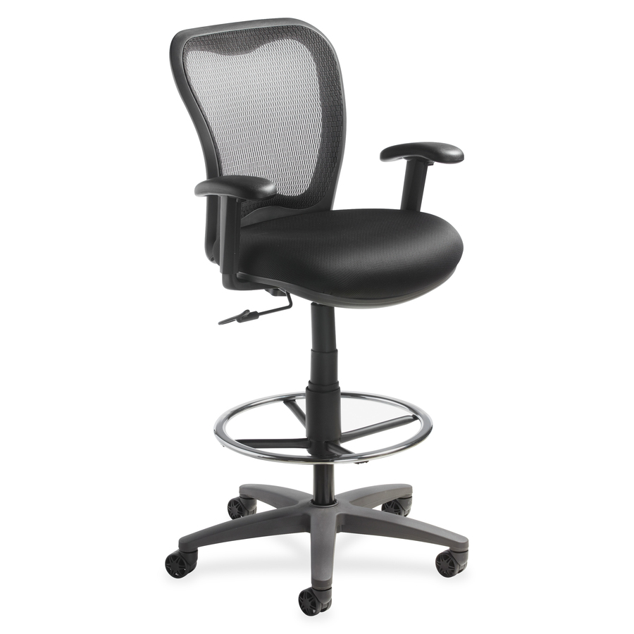 LLR25981 Lorell Mesh back Drafting Stool Great Office Buys