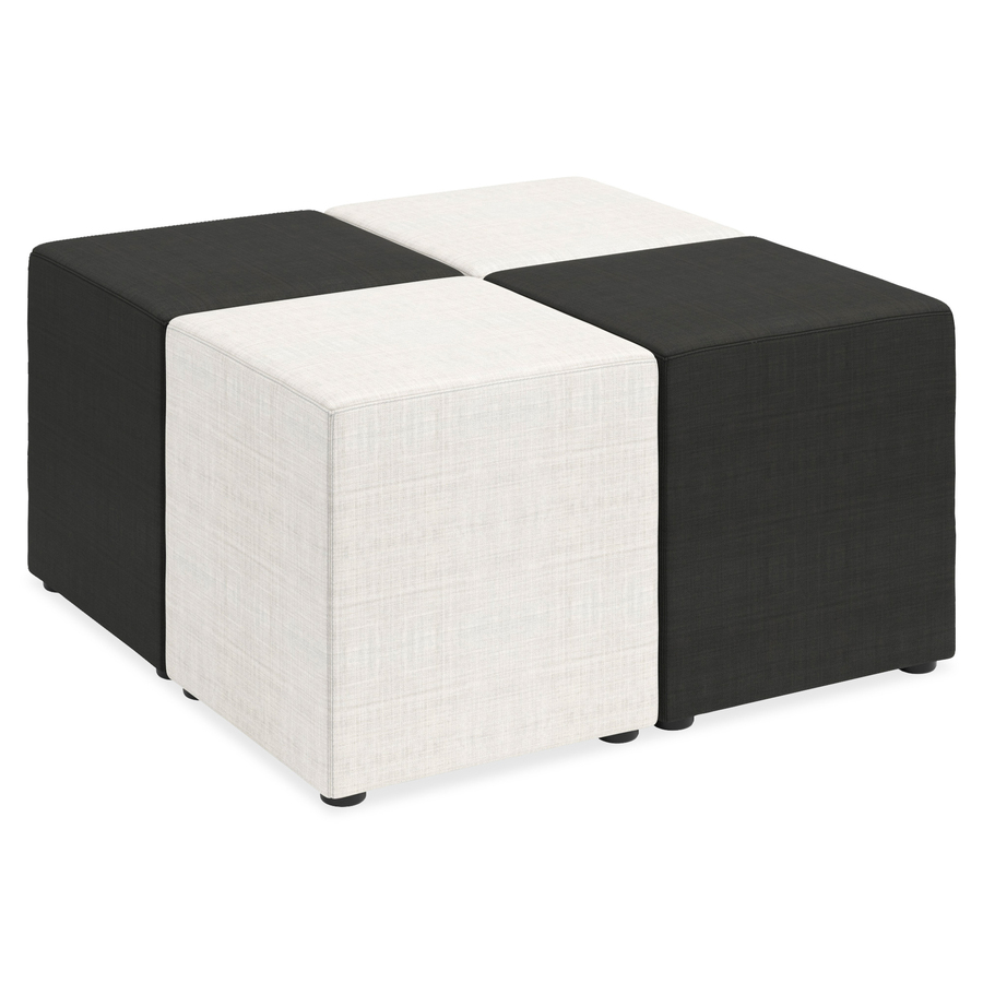Lorell Fabric Cube Chair Servmart