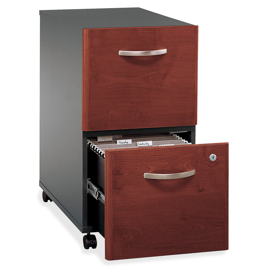 Bush wc24452su bush series c two drawer pedestal for Mobile furniture