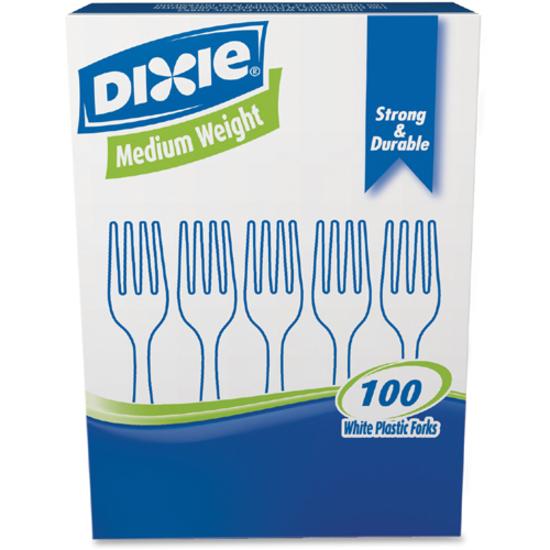 Dixie Medium Weight Plastic Cutlery 100 pcs
