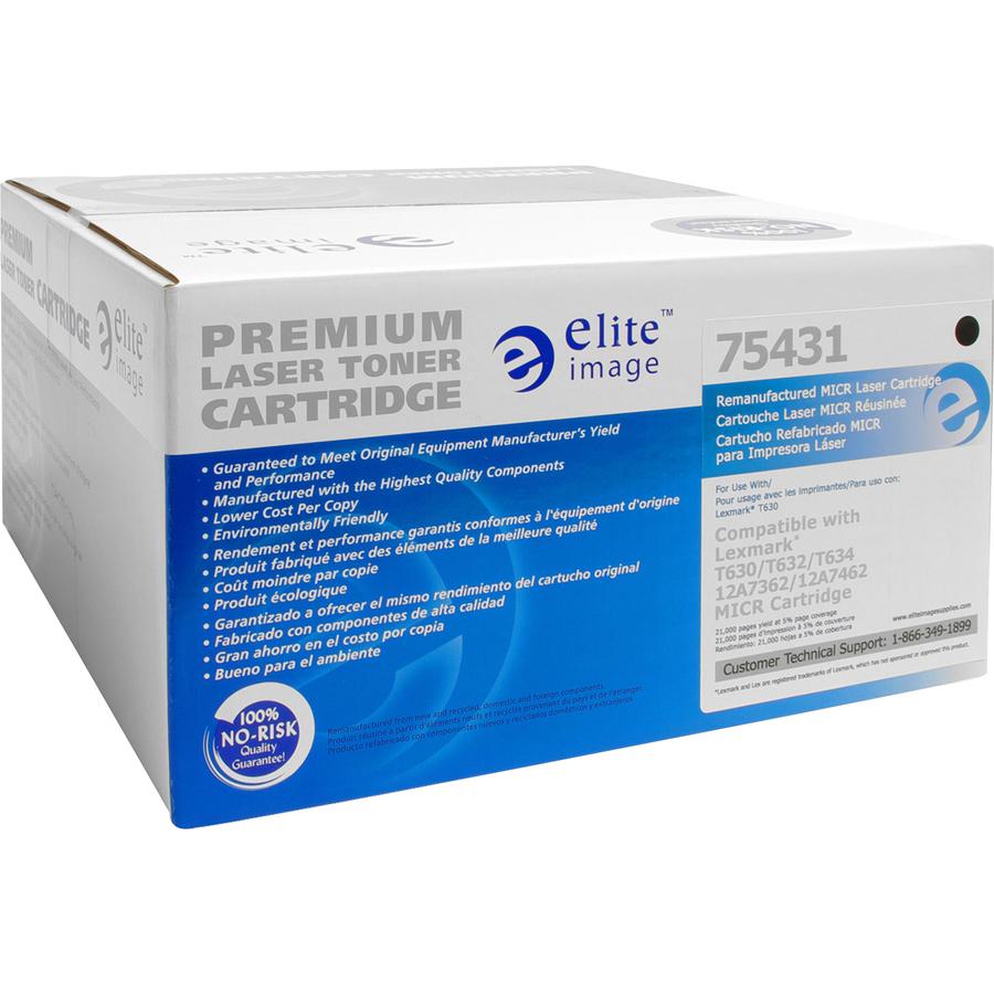 Elite Image Remanufactured MICR Toner Cartridge Alternative For Lexmark T630 (12A7362)