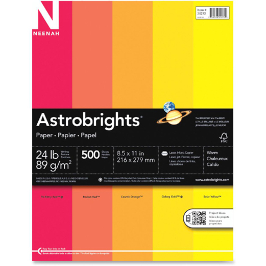 Astro Astrobrights Colored Paper Wau20272 In Package
