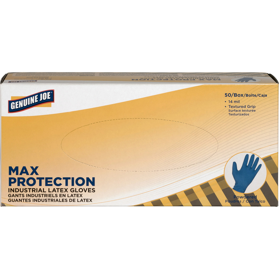 Genuine Joe Max Protect Powder Latex Indust Gloves