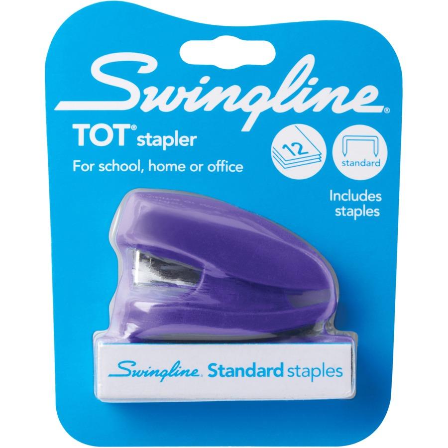 Swingline Tot Stapler Built in Staple Remover 12 Sheets Purple