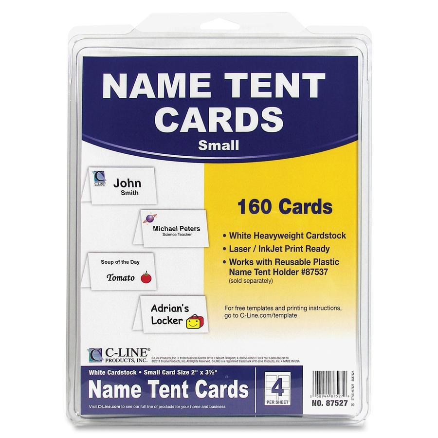C Line Laser Inkjet Print Tent Card CLI87527