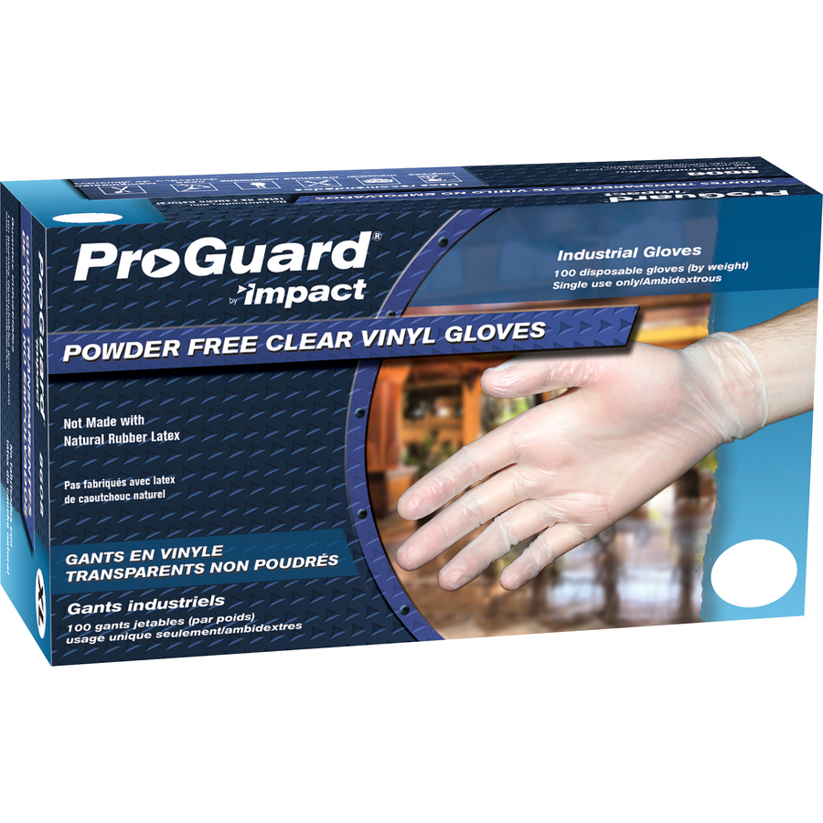 Impact Products ProGuard Vinyl PF General Purpose Gloves Medium Size 100 - Box