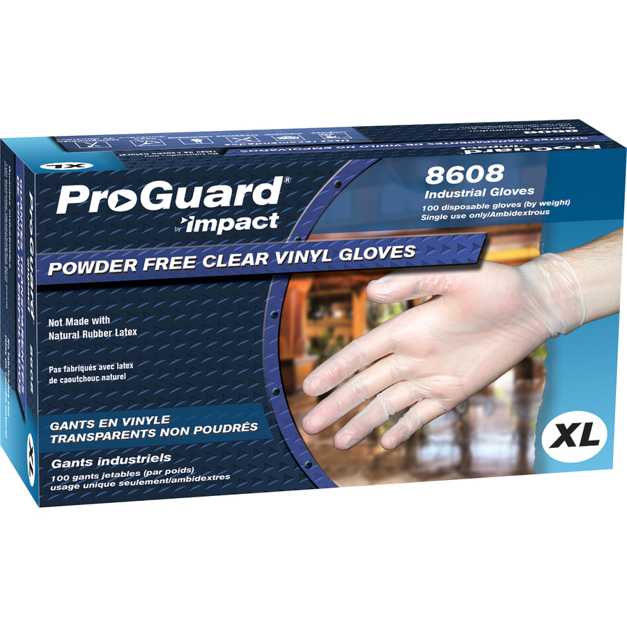 Impact Products ProGuard Vinyl PF General Purpose Gloves Extra Large Size 100 - Box