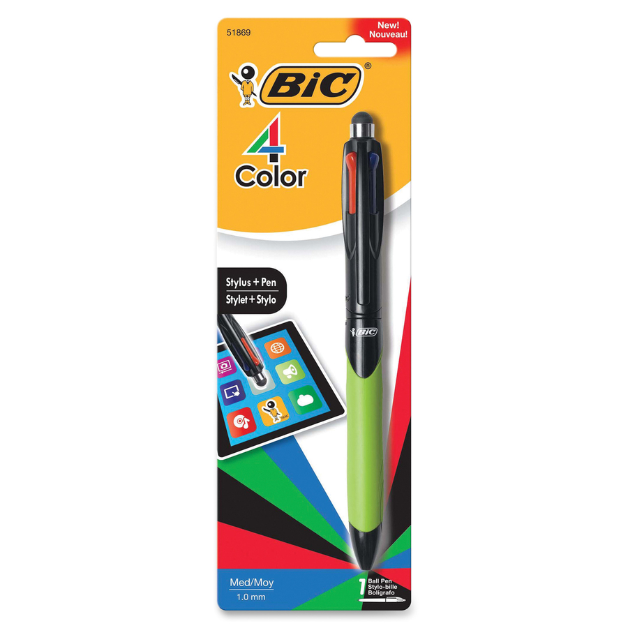 BIC 4 Color Stylus Plus Pen Office Supply America