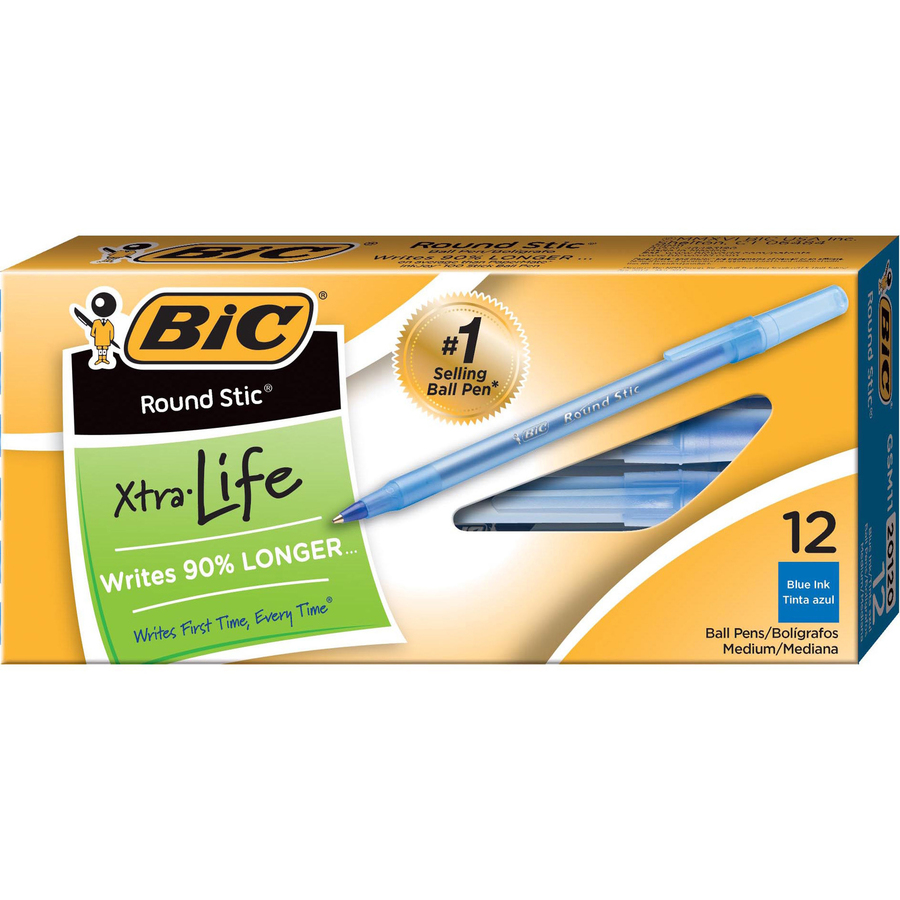 BIC Blue Round Stic Ballpoint Pens