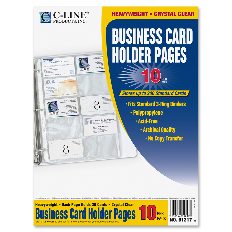 C line business card refill pages servmart in package reheart Choice Image