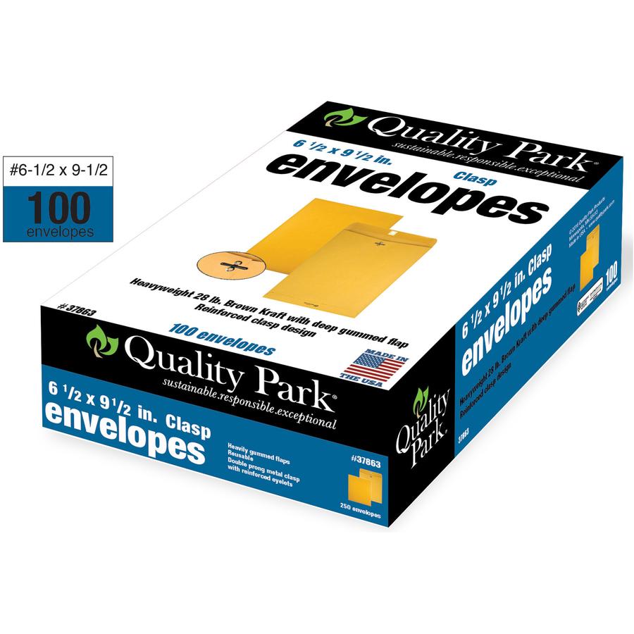 Quality Park Heavy-Duty Clasp Envelope