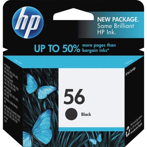 HP No. 56 Black Ink Cartridge - Inkjet - 520 Page - Black - 1