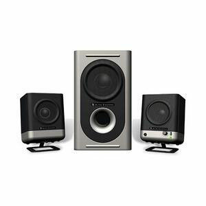ALTEC LANSING 221 3-PIECE SPEAKER SYSTEM BLACK 20W RMS