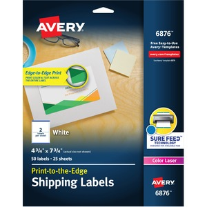 Avery White Print_to_the_Edge Shipping Labels