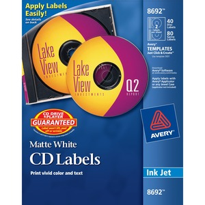 Avery Ink Jet CD/DVD Label(s) - 40 Sheet
