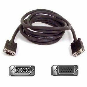 Belkin Pro Series High Integrity VGA/SVGA Monitor Extension Cable - HD-15 Male Video - HD-15 Female Video - 50ft