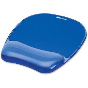 Fellowes Gel Mousepad/Wrist Rest _ Crystals Blue