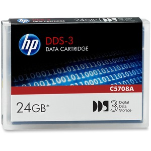 HP DDS-3 24GB 125M Data Cartridge Offers 24GB Capacity With 2:1 Data Compression