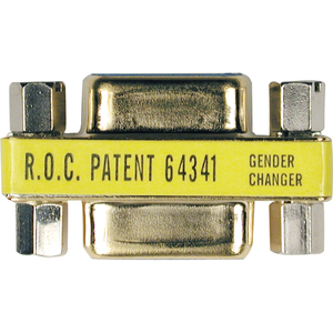 COMPACT GENDER CHANGER DB9F TO DB9F GOLD