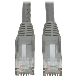 10FT CAT6 GRAY GIGABIT PATCH CORD SNAGLESS MOLDED