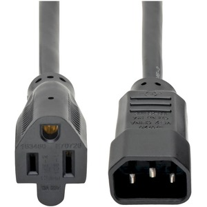 2FT IEC-320-C14 M TO NEMA 5-15R F AC POWER ADAPTER CORD