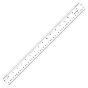 "Westcott See-through Ruler - 18"" Length 1"" Width - 1/16 Graduations - Imperial, Metric Measuring System - Acrylic - 1 Each - Clear"