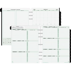 Day-Timer 2 Pages Per Week Reference Dated Calendar Pages DTM93010