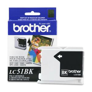 Brother Black Inkjet Cartridge For MFC-240C Multi-Function Printer BRTLC51BK