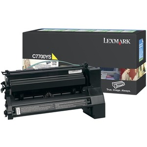 Lexmark Yellow Return Program Toner Cartridge LEXC7700YS
