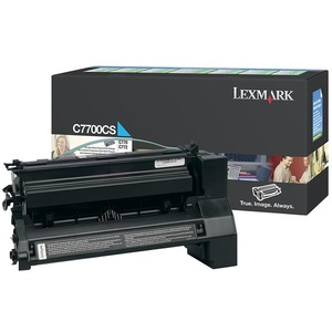 Lexmark Cyan Return Program Toner Cartridge LEXC7700CS