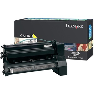 Lexmark Yellow High Yield Return Program Toner Cartridge LEXC7700YH