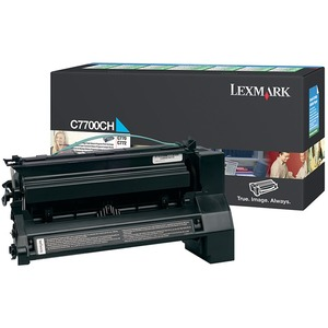Lexmark Cyan High Yield Return Program Toner Cartridge LEXC7700CH