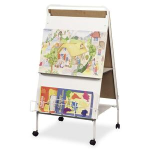 Mooreco, Inc Mooreco Baby Folding Wheasel Mobile Easel - 29.8 (2.5 Ft) Width X 43 (3.6 Ft) Height - Rectangle - 1 Each