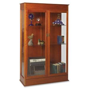 "Balt Traditional Wood Display Case - 48"" x 18"" x 77"" - Wood - 3 x Shelf(ves) - Security Lock - Glass Door - Oak"
