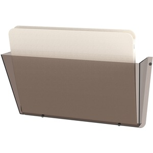 "Deflect-o 63202 Wall Pocket - 6.5"" x 14.5"" x 3"" - 1 Compartment(s) - Plastic - Smoke"
