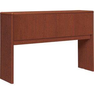 "HON 10700 Series Stack-on 4-Door Storage Unit for 60"" Credenza - 57"" Width x 14.62"" Depth x 37"" Height - 4 Door - Waterfall Edge - Wood - Henna Cherry Top"