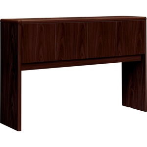 "HON 10700 Series Stack-on 4-Door Storage Unit for 60"" Credenza - 57"" Width x 14.62"" Depth x 37"" Height - 4 Door - Waterfall Edge - Wood - Mahogany Top"