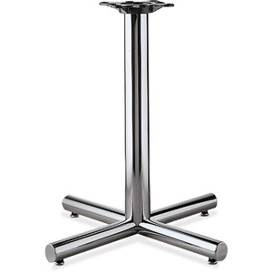 "HON Hospitality Table Base - 28"" - Steel, PVC - Chrome Base"
